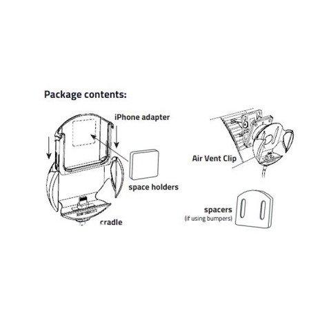 Sujetador para iPhone para adaptadores Dension Gateway 500S / Pro BT (IP5LCRP) Vista previa  1