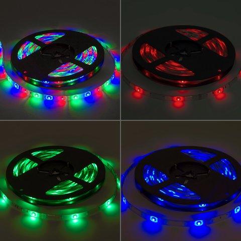 Світлодіодна стрічка RGB SMD 3528 (без управління, IP65, 60 діодів/м, 5 м) Прев'ю 2