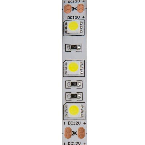Світлодіодна стрічка SMD5050 (біла, 60 світлодіодів, 12 В DC, 1 м) Прев'ю 1