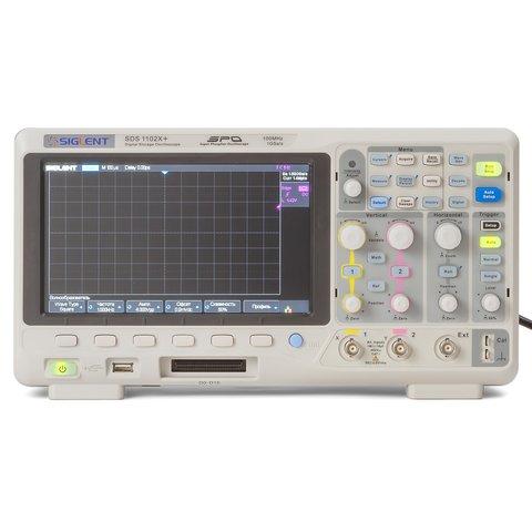 Фосфорний цифровий осцилограф SIGLENT SDS1102X+ Прев'ю 3